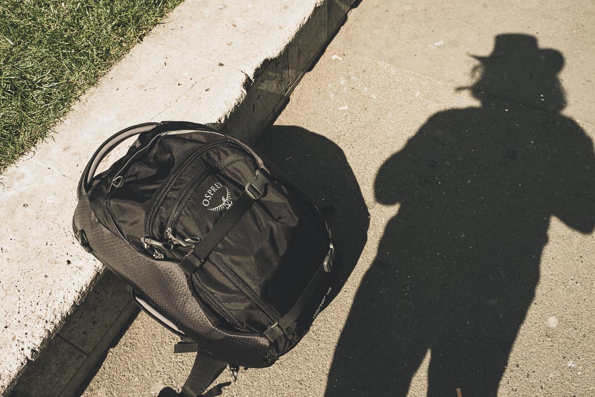 Me and my rucksack in Paris